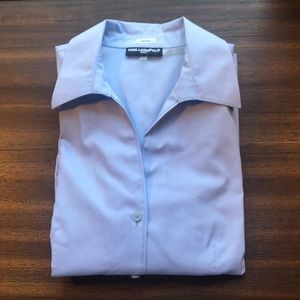 Light Blue Karl Lagerfeld Button Down Size: 8 NWOT